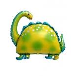 Бронтозавр, гелиевый, фольгированный шар