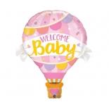 Воздушный шар Девочка розовая, гелиевый, фольгированный шар
