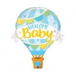 Воздушный шар Мальчик голубой, гелиевый, фольгированный шар