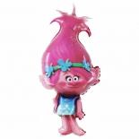 Тролль Розочка Поппи, гелиевый, фольгированный шар