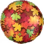 Листья осенние, фольгированный шар