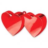 Грузик для шаров Два сердца, красный